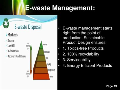 waste management powerpoint template e waste and management