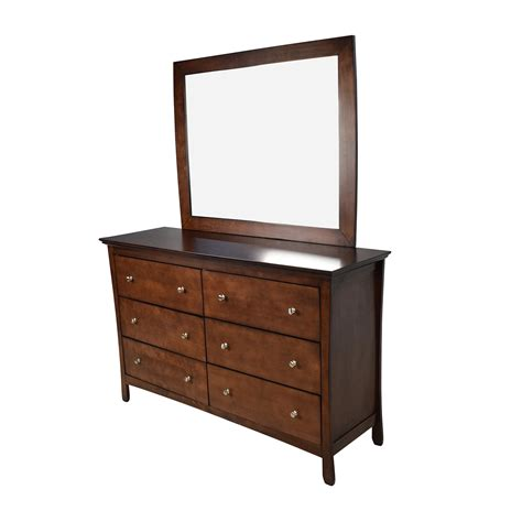 Large Dresser by 57 Large Brown Wood Dresser With Mirror Storage