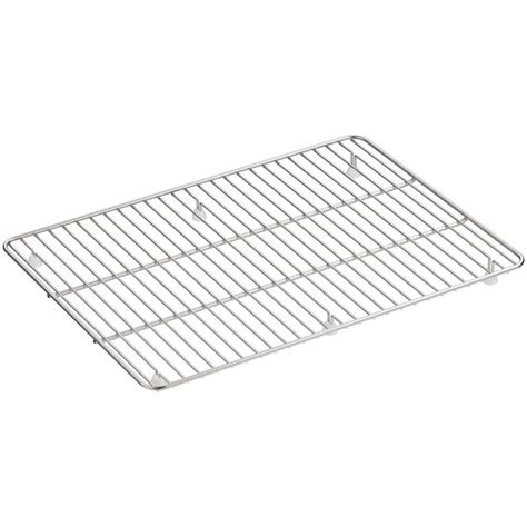 Kitchen Sink Racks Stainless Kohler Cairn 19 5 In X 14 In Stainless Steel Kitchen Sink Basin Rack K 5196 St The Home Depot