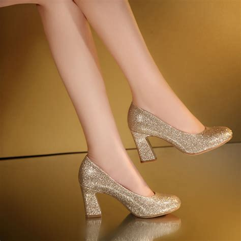 Cmr250 High Heels Gold 6 Cm weeding gold high heel shoes 3cm new fashion high heels shoes shoes pumps for