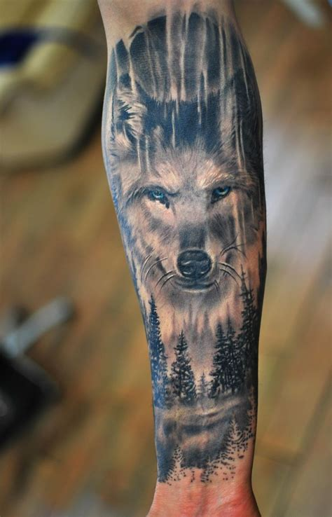 wolf forest tattoo best 25 animal sleeve ideas on forest
