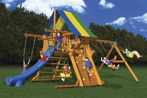 wood kingdom swing set prices fun n joy playsets colossal kingdom playset