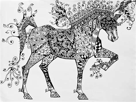 zentangle pattern xircus zentangle circus horse greeting card for sale by jani