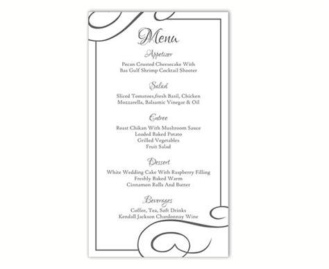 menu template word free wedding menu template diy menu card template editable text
