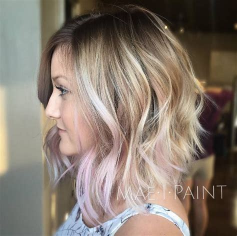 show me what a lob hair cut looks like 53 beautiful balayage looks for short hair blonde