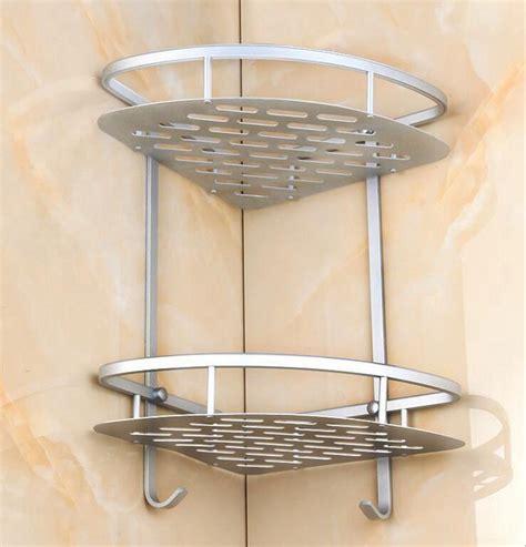 Corner Caddy Shelf by Triangular Shower Caddy Shelf Wall Corner Bathroom Rack Storage Organizer Holder Ebay