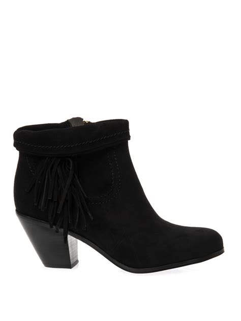 sam edelman ankle boots sam edelman louie suede ankle boots in black lyst