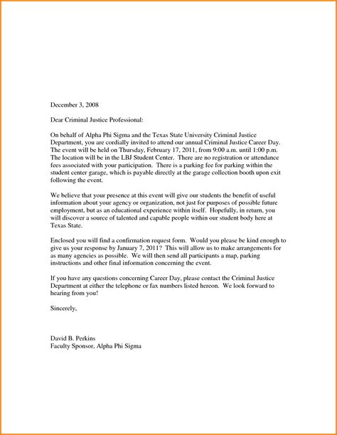 College Letter Prom 11 Formal Letter Sle For School Financial Statement Form