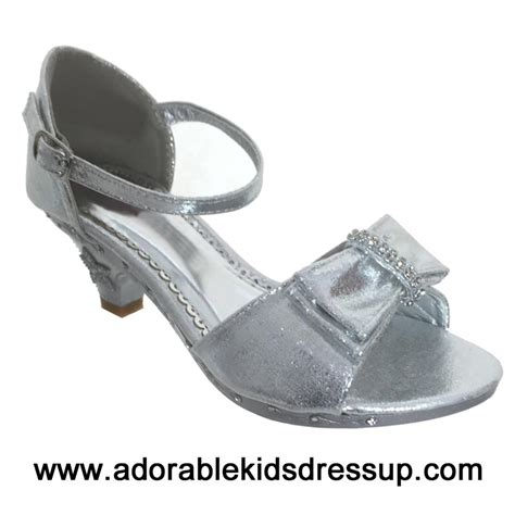 toddler high heel shoes flower shoes silver high heel shoes