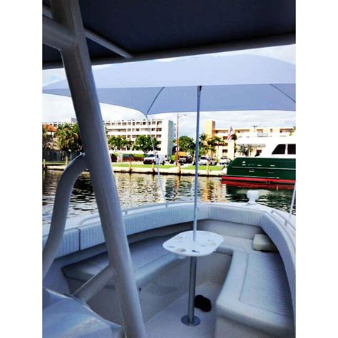 boat outfitters starboard starboard table with pedestal boat outfitters