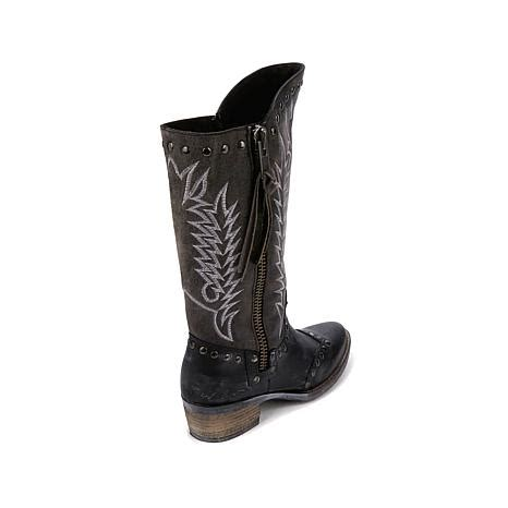 hsn boots sheryl western leather boot 8323577 hsn