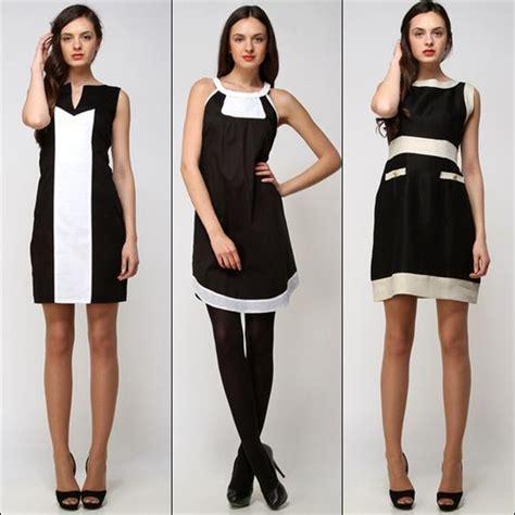 modas con blanco y negro vestido de moda 2015 negro con blanco