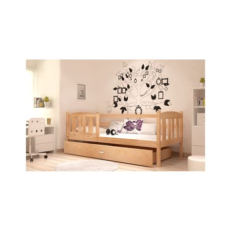 letto a in legno massello letto singolo in legno di pino massello jacob con cassetto