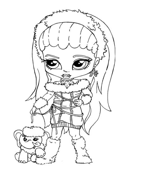 monster high coloring pages baby abbey bominable monster high baby coloring pages coloring home