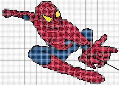 spiderman graphghan pattern spiderman haken borduur en pixelpatronen pinterest