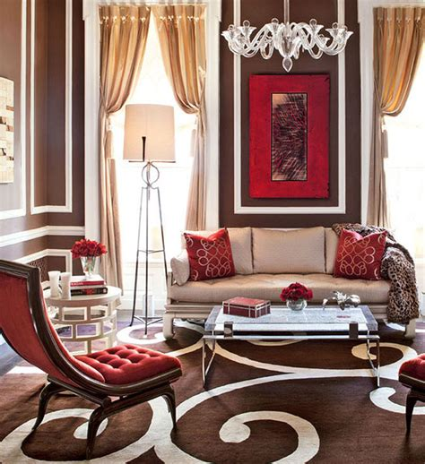 brown and red living room the bold and the beautiful pantone color for spring