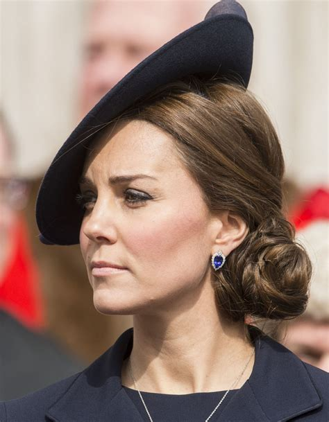 Updo Hairstyles For Hats by Kate Middleton Wears A Stunning Updo At Hat