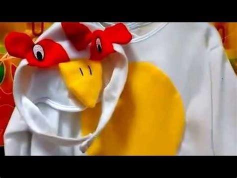 como hacer disfraz de gallo disfraz de gallo para beb 233 youtube