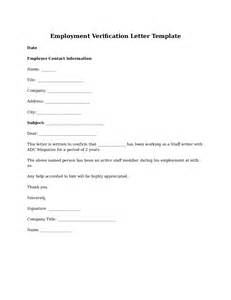 Employment Verification Template by Proof Of Employment Letter Sle Employment