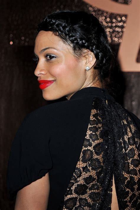 Hair Cuts Simspon Rosario Dawson by More Pics Of Rosario Dawson Studded Clutch 1 Of 16