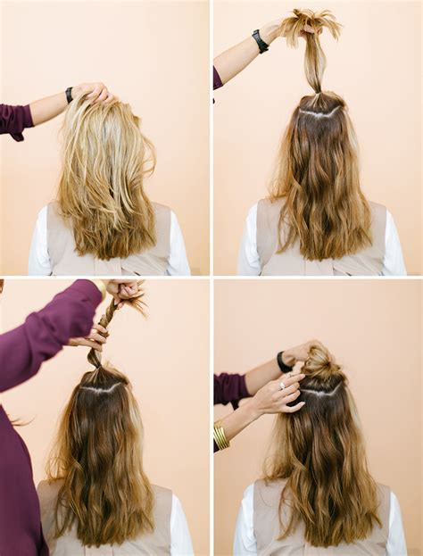 Half Hairstyles by The Half Up Top Knot Camille Styles
