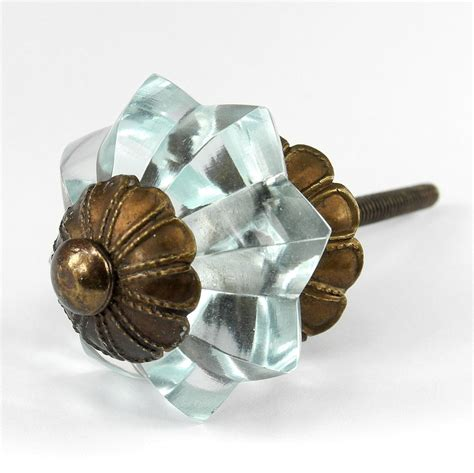 Vintage Glass Dresser Knobs by Blue Cupboard Handles Vintage Glass Door Knob And Cabinet