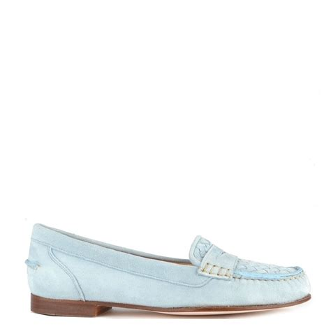 pale blue loafers elia b weave light blue suede loafer