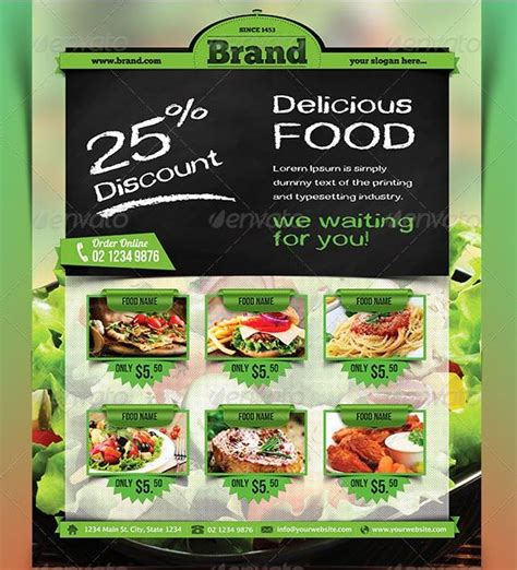 free food brochure templates 1000 images about food flyers on chicken