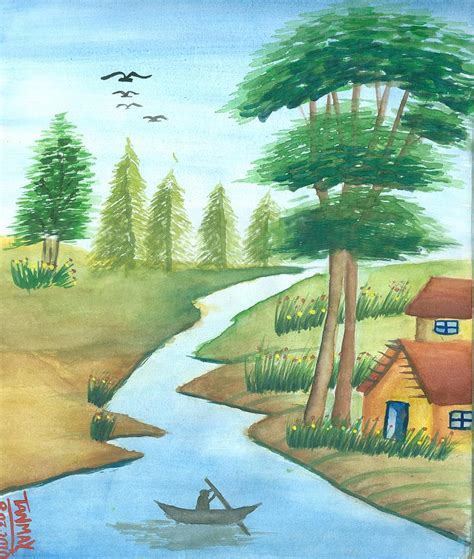 gifts for nature gift of nature painting by tanmay singh