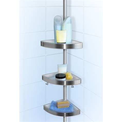 Shower Cady by Lloyd Pascal Floor To Ceiling Shower Tension Caddy Chrome