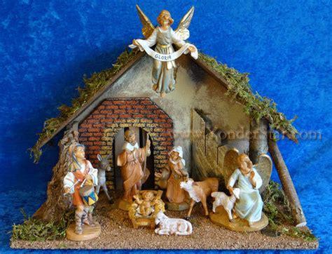 nativity fontanini wooden nativity from estonia new for 2017 yonder