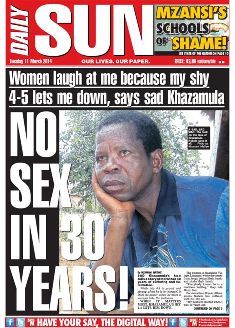 africa news news and headlines from south africa egypt quot no sex in 30 years quot daily sun opinion politicsweb