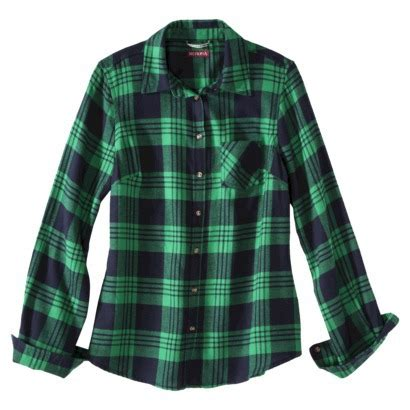 merona® petites long sleeve flannel shirt : target