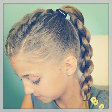 back to school sporty hairstyles single frenchback into round braid back to school