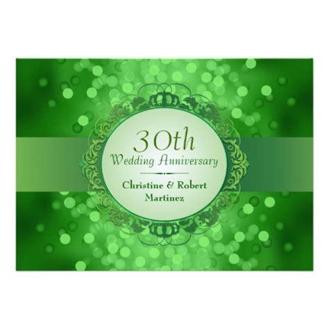 30th anniversary color emerald green bokeh 30th anniversary 5x7 paper