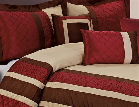 7 piece mya red bed in a bag comforter sets queen king