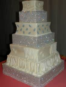 Raise your cake with some bling las vegas wedding planner