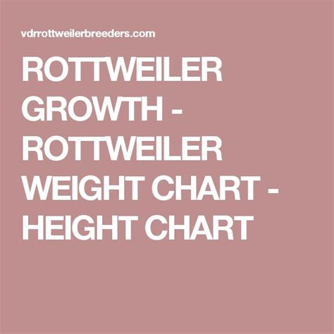 rottweiler growth chart the 25 best rottweiler weight ideas on