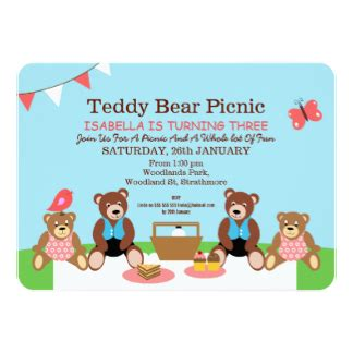 teddy picnic invitation template teddy picnic invitations announcements
