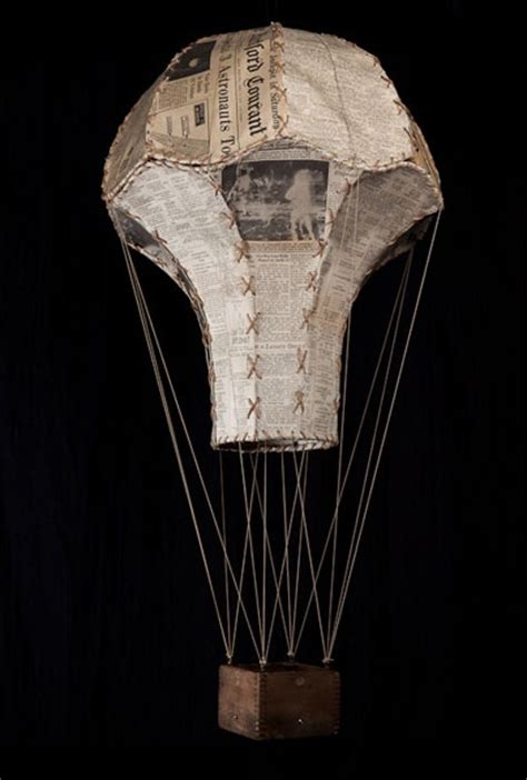 How To Make A Parachute Out Of Paper - vintage paper parachute table d 233 cor or hanging from the