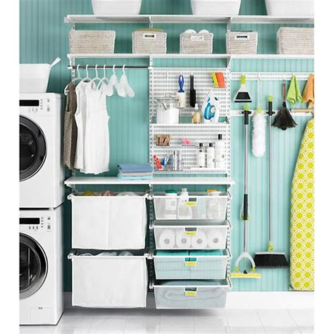 Organize Utility Closet by White Elfa Utility Boards The Container Store