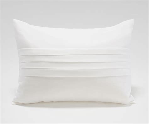 White Pillow by Center Pleated Pillow Live Home Products