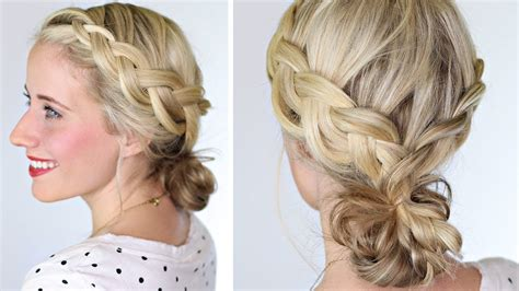 hairstyle on me how to braided bun lauren conrad hairstyle youtube