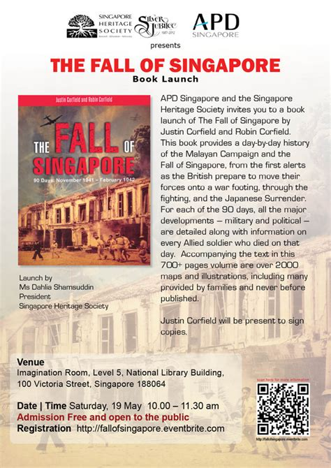 the defence and fall of singapore books book launch the fall of singapore tickets sat may 19