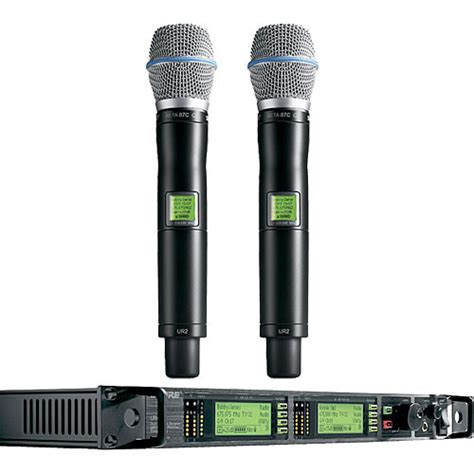 Microphone Wireless Shure Uhf 555 Wireless Microphone 2 Clip On shure uhf r professional diversity wireless ur24d beta87a x1 b h