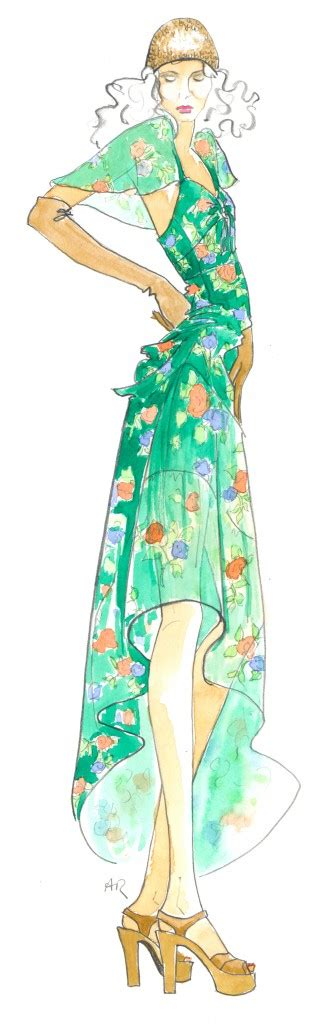 Fashion Sketches 70s by Gold In Them