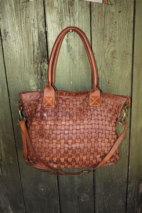 Woven Handbag soft camel color italian woven leather handbag handmade