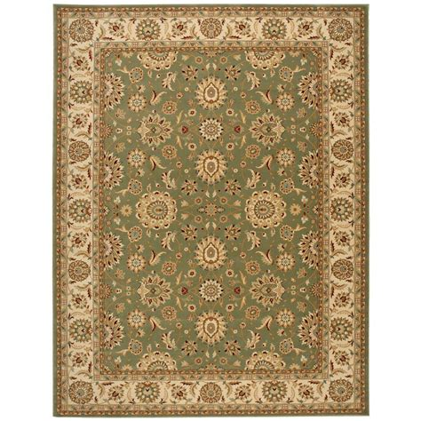 10 X 6 Area Rug Nourison Crown Suret Green 7 Ft 10 In X 10 Ft 6 In Area Rug 178480 The Home Depot