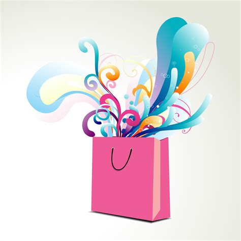 colorful bags colorful floral bag illustration free vector