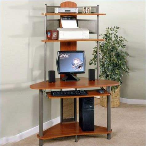 Vertical Computer Desk Using Black Computer Desks For Home To Increase Productivity